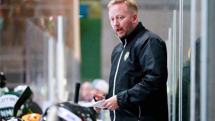EHCO-Trainer Fredrik Söderström. Bild: Marc Schumacher/Freshfocus