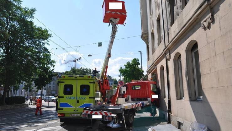Beim Unfall wurden zwei Arbeiter verletzt.