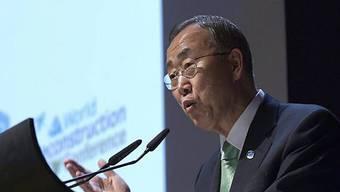 UNO-Generalsekretär Ban an der Konferenz in Genf
