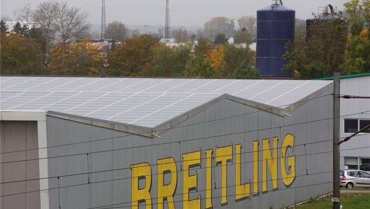 Grösstes Solardach: Breitling-Lager.