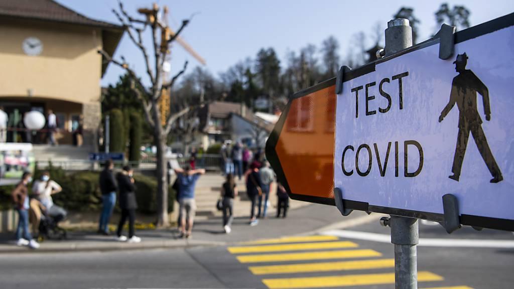 Ein Testzentrum in Mont-sur-Lausanne. (Archivbild)