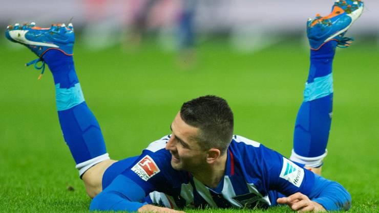 Vedad Ibisevic bereitete beim 2:0-Sieg von Hertha Berlin gegen Mainz beide Berliner Tore vor