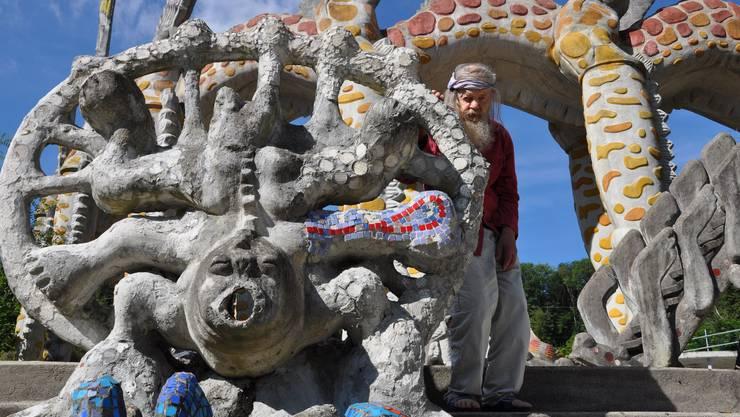 Bruno Weber im Bruno-Weber-Park