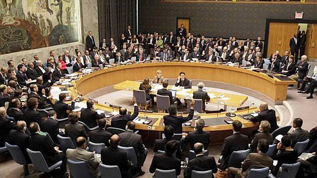 Abstimmung im UNO-Sicherheitsrat