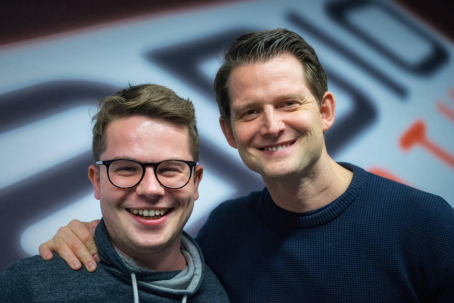 Fabian Unteregger mit Michi Huser bei Radio Pilatus