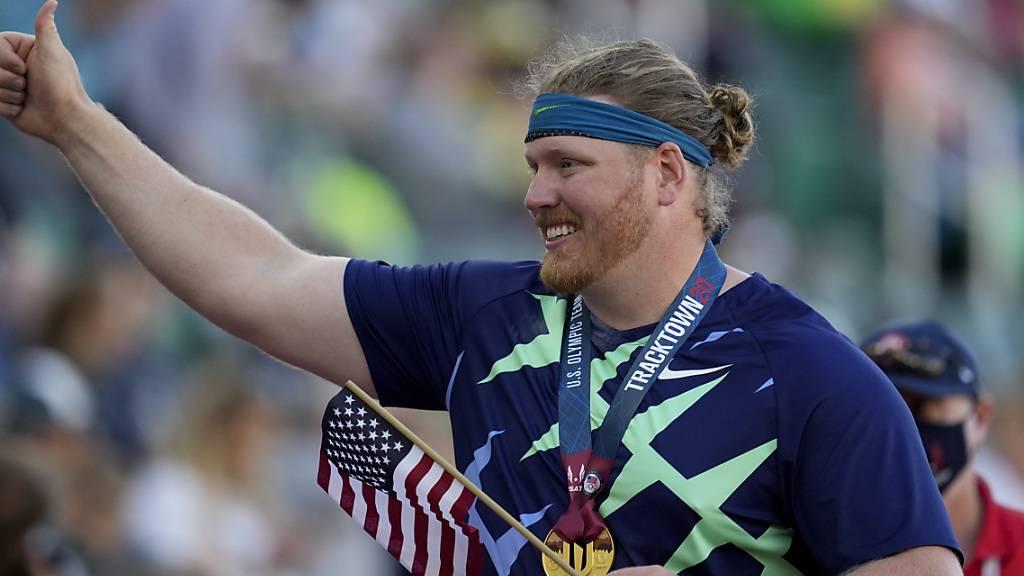 Olympiasieger Ryan Crouser ist jetzt auch Weltrekordhalter
