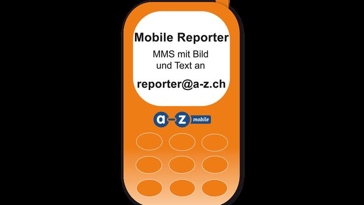 MMS mit Bild und Text an reporter@a-z.ch