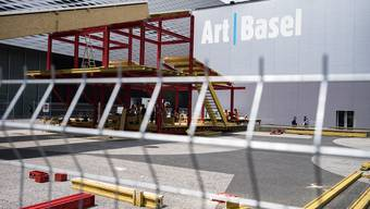 Art Basel 2018: Aufbau der Installation «Basilea» auf dem Messeplatz.