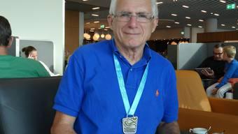 Georg Schellenberg mit der Bronzemedaille über 1500 Meter