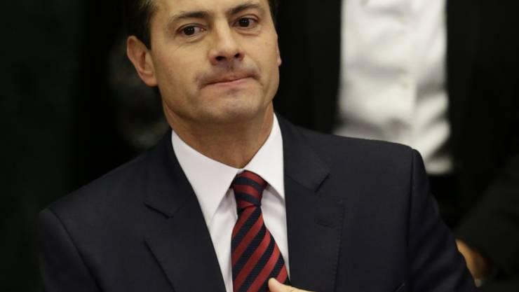 """""""Nichts steht über der Würde Mexikos"""": Staatspräsident Enrique Peña Nieto. (Archivbild)"""