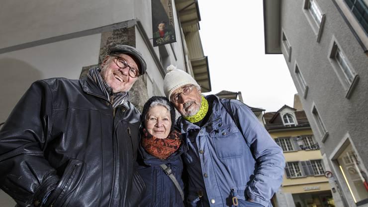 Theater Delly: v.l. Andreas Berger, Silvia Jost und Beat Albrecht sprechen über ihre neue Bühnenproduktion.