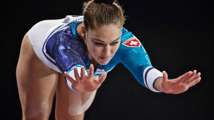 Giulia Steingruber kämpft am Sprung um die Medaillen.