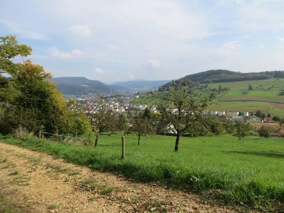 Der Blick vom Adlergebiet auf Frenekndorf