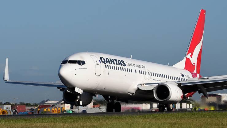 Qantas entdeckt Haarrisse an Boeing 737. (Archivbild)