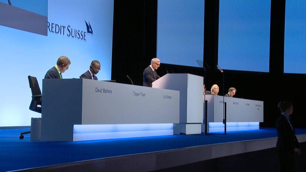 Kritik für CS von Klein-Aktionären und Klimaschützern
