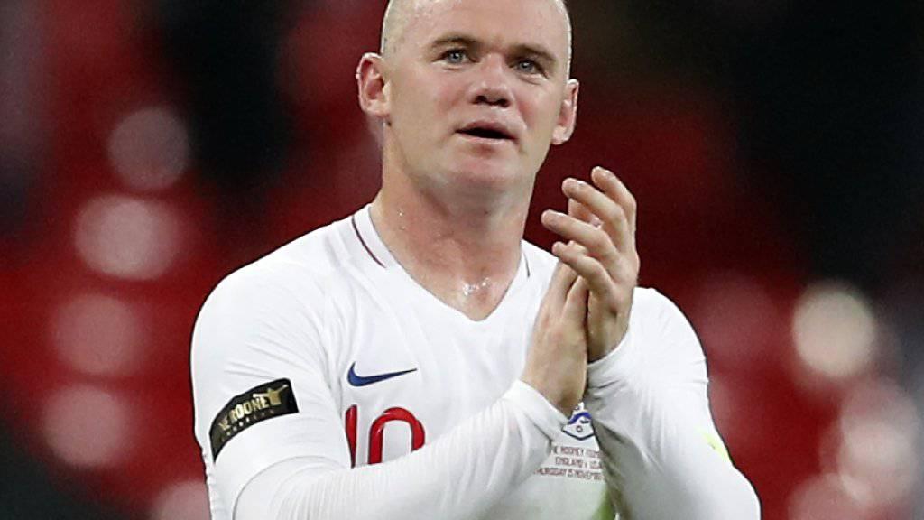 Wayne Rooney bestritt sein letztes von 120. Länderspielen für England