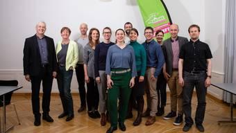 Diese Kandidaten sollen für die Grünen einen Nationalratssitz und einen Sitz im Stöckli holen. Beides hat die Kantonalpartei unter Laura Gantenbein (zuvorderst in der Mitte) bisher jedoch nicht.