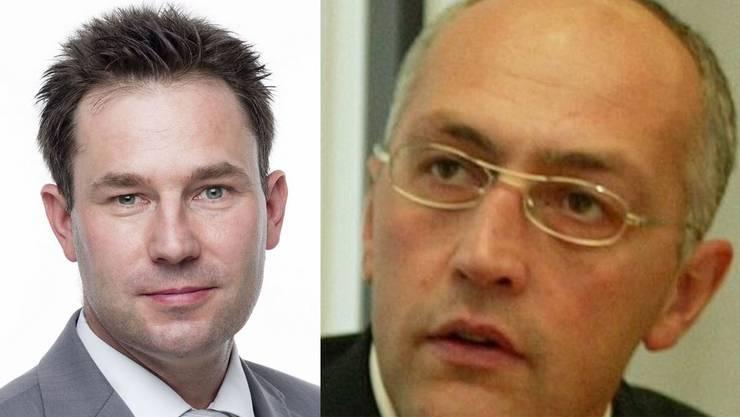 FDP gegen CVP: Fred Hofer (l.) gegen Marco Hürsch.