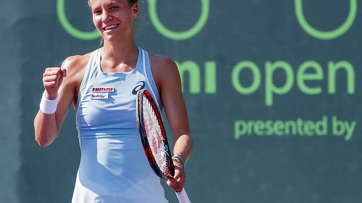 Viktorija Golubic steht zum vierten Mal in Folge am Australian Open in Melbourne im Hauptfeld
