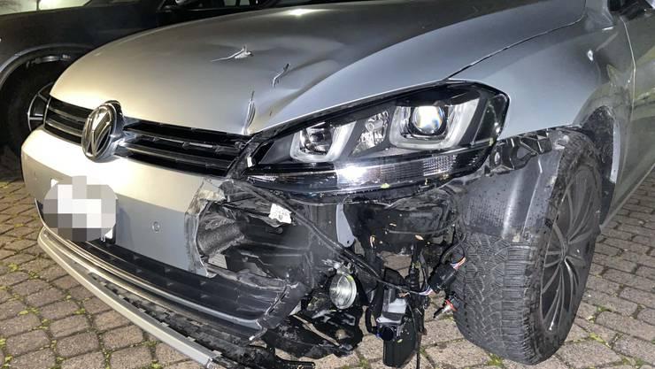 Der Unfallwagen.