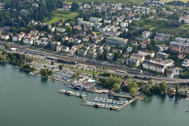 So sieht der Hafen bei Tiefenbrunnen heute aus.
