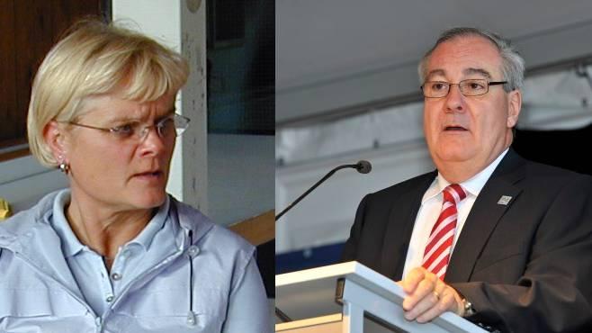 Regula Lüthi (links) erhält keinen Anerkennungspreis, offenbar auf Druck des Grenchner Stapis Boris Banga