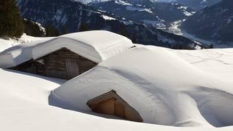 Verschneite Maiensäss im Bündner Prättigau (Symbolbild)