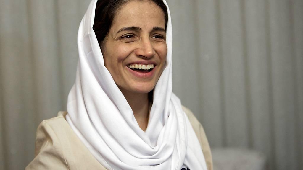 ARCHIV - Nasrin Sotudeh, iranische Anwältin, die sich für Rechtsstaatlichkeit und die Rechte politischer Gefangener, Oppositionsaktivisten, Frauen und Kinder einsetzt. Foto: Behrouz Mehri/3p-afp/dpa