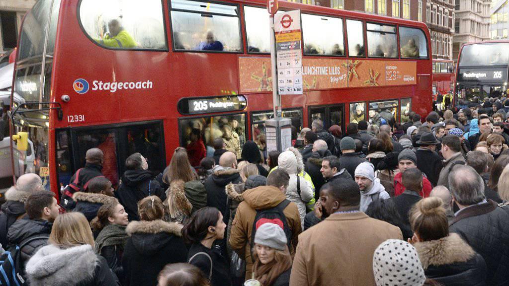 Bei der Londoner U-Bahn wird gestreikt