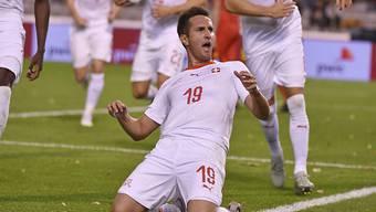 Mario Gavranovic soll im Dress der Schweiz auch heute gegen Georgien jubeln