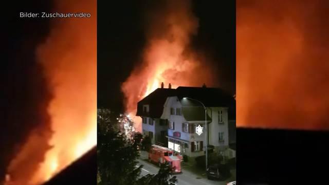 Feuerwehr stand die ganze Nacht im Einsatz