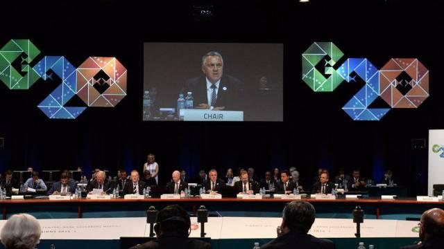 Der australische Finanzminister Joe Hockey eröffnet den G20-Gipfel