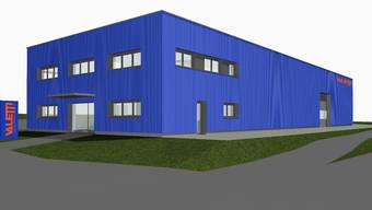 Visualisierung des neuen Werkhofs der Firma Valetti Bauunternehmung AG an der Mülligerstrasse 96 in Windisch.