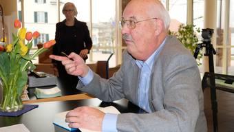 Vernissage/Lesung zu Heinz Lüthis neuem Buch «Strömungen» (18.03.2018)