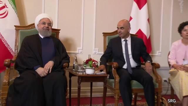 Iranischer Präsident Rohani trifft Alain Berset