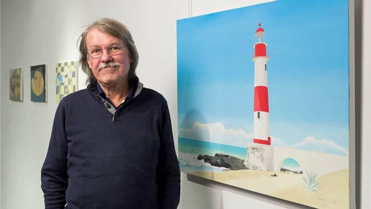 Vor 33 Jahren verliess der Künstler Andy Wildi seine Heimatstadt Baden und zog gen Süden ins Tessin. Nun ist er für eine Ausstellung zurück. Alex Spichale