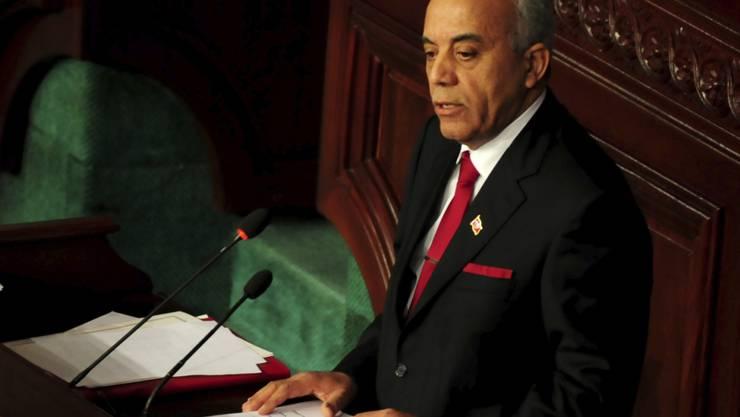 Am Parlament gescheitert: der designierte Ministerpräsident Habib Jemli vor den Abgeordneten in Tunis.