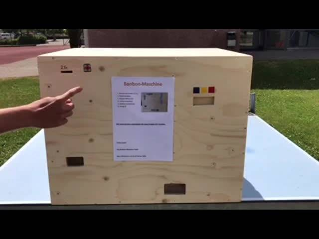 So funktioniert die Bonbonmaschine, die Schüler aus Wolfwil entwickelt haben.