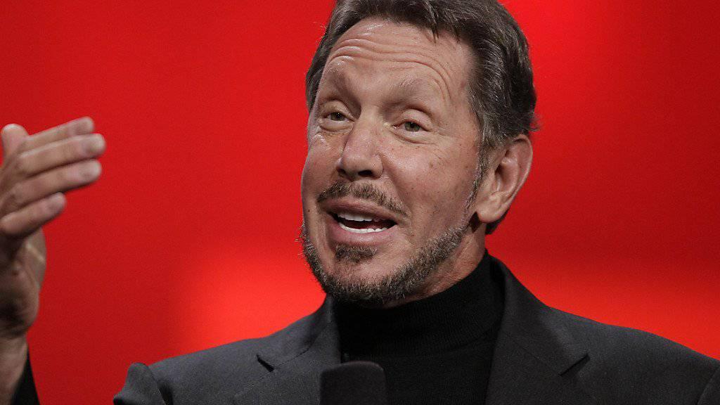 Der Gründer des Softwarekonzerns Oracle, Larry Ellison, wird neues Mitglied im Verwaltungsrat des Elektroauto-Herstellers Tesla. (Archivbild)