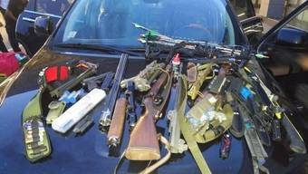 Die von den bulgarischen Behörden beschlagnahmten Waffen des Schweizers.