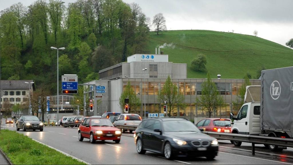Verkehrsumstellung am A1-Zubringer in Lenzburg