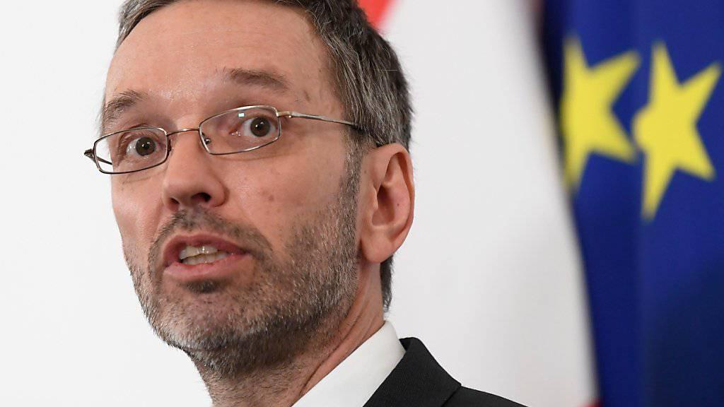 Österreich nimmt nach den Worten von Innenminister Kickl sämtliche Spuren des mutmasslichen Christchurch-Attentäters «sehr, sehr ernst». (Archivbild)