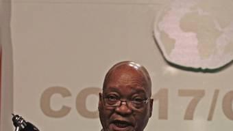 Ein besorgter Jacob Zuma in Durban