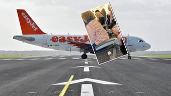 Einer Easyjet-Passagierin wurde auf einem Flug von London nach Genf beim Boarding ein Sitz ohne Lehne zugewiesen.