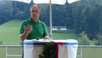Präsident Hans Häseli freute sich inseiner Festansprache über die Erfolge seines Vereins.ARI