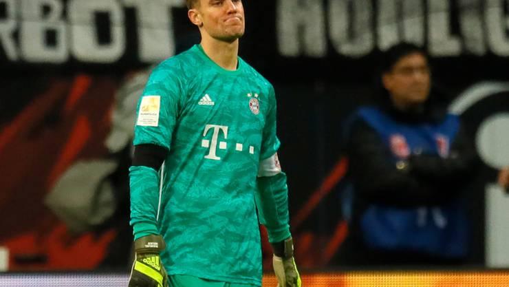 Bayern Keeper Manuel Neuer musste sich fünfmal geschlagen geben