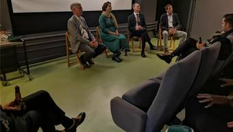Martin Burkard, Olivia Kühni, Claudio Passardi und Ueli Mäder (v.l). Bild: uhg