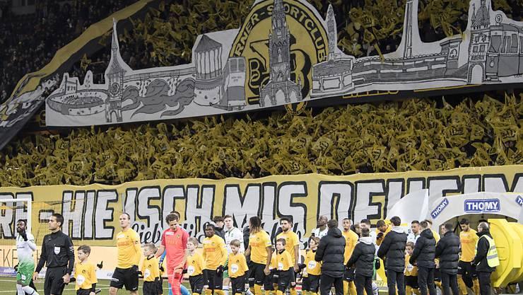 Gelb-Schwarze Wand: Die Young Boys erhalten im Stade de Suisse breiten Support aus der heimischen Fankurve