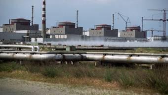 Archiv-Aufnahme des Atomkrafwerks in Saporoschje.
