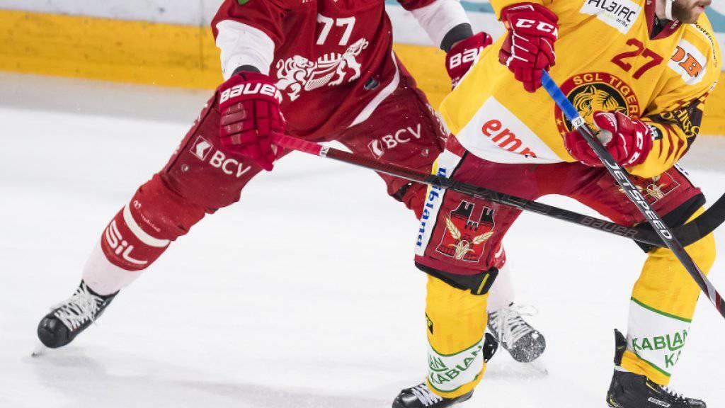 Robin Grossmann (links) will mit Lausanne im Playoff-Halbfinal gegen seinen Ex-Klub Zug überraschen